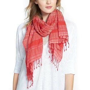 Eileen Fisher Hand Loomed Organic Cotton Scarf